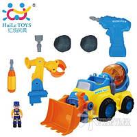 Игрушка-конструктор Huile Toys Строительная машина 566CD