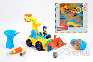 Игрушка-конструктор Huile Toys Строительная машина 566CD, фото 2