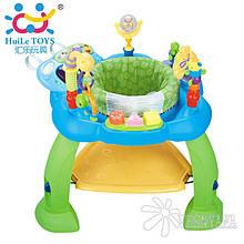 Ігровий розвиваючий центр Huile Toys Музичний стільчик (синій) 696