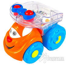 Игрушка Huile Toys Мультяшная машинка (упаковка Паровоз 3шт. + Грузовик 3шт) 706, фото 3
