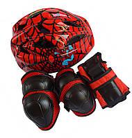 Набор - Человек паук - Защита для детей - шлем + защита для локтей, колен и запястий