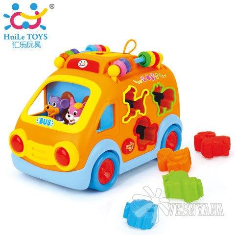 Игрушка Huile Toys Веселый автобус 988