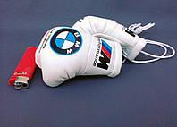 Мини боксерские перчатки в автомобиль BMW M-Performance, подарок, сувенир, брелок