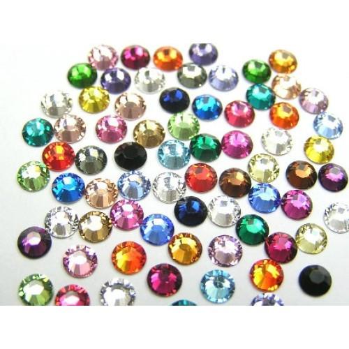 Стрази Swarovski мікс (різні кольори)різні розміри (100 шт)