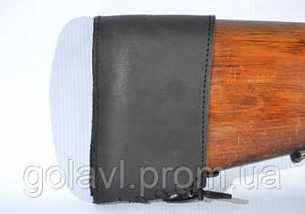 Тыльник на приклад кожаный Ретро черный