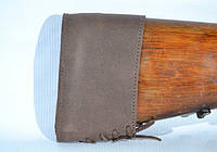 Тыльник на приклад кожаный Ретро коричневый