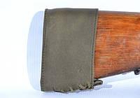 Тыльник на приклад кожаный Ретро оливковый