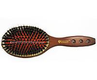 Щетка для волос большая овальная деревянная массажная(натур.щетина+силикон вставки) 7399CHG Salon Professional