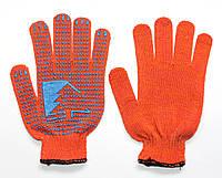 Перчатка рабочая «Елочка» (хлопок 70%, полиэстер 30%, ПВХ напыление), Украина