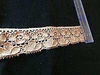 Кружево стрейч цвет бежевый 35 мм N969
