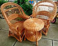 Кресла и стол плетеный
