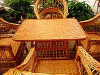 Кресла со столом плетеные
