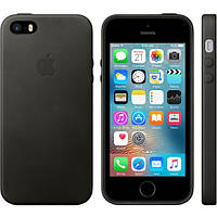 Чехол Official Leather Case for iPhone 5 5S SE Black
