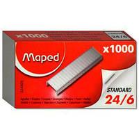 Скобы для степлера MAPED (Франция), №24/6, 1000 шт.