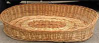 Плетеный лежак для собак и кошек
