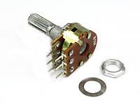Резистор переменный WH148-1B-2 B 220 Ом 6 pin прямой