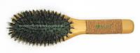 Щетка для волос массажная деревянная с натуральной щетиной 77033BMi+ Salon Professional
