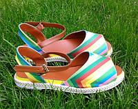 Босоножки сандалии женские разноцветные 37р., фото 1