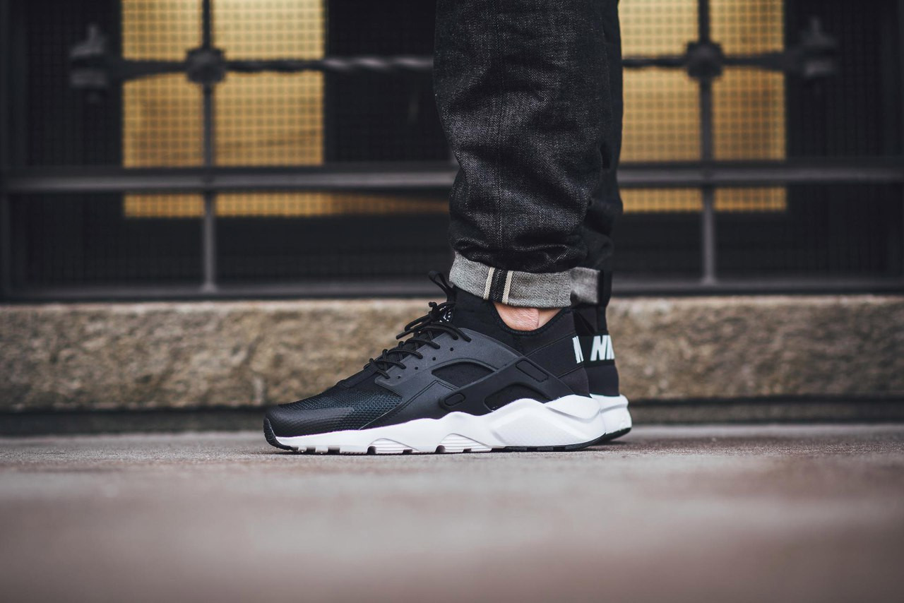 4a2a3afc05f34 Кроссовки Nike Air Huarache Ultra Black White - Интернет-магазин обуви и  аксессуаров в