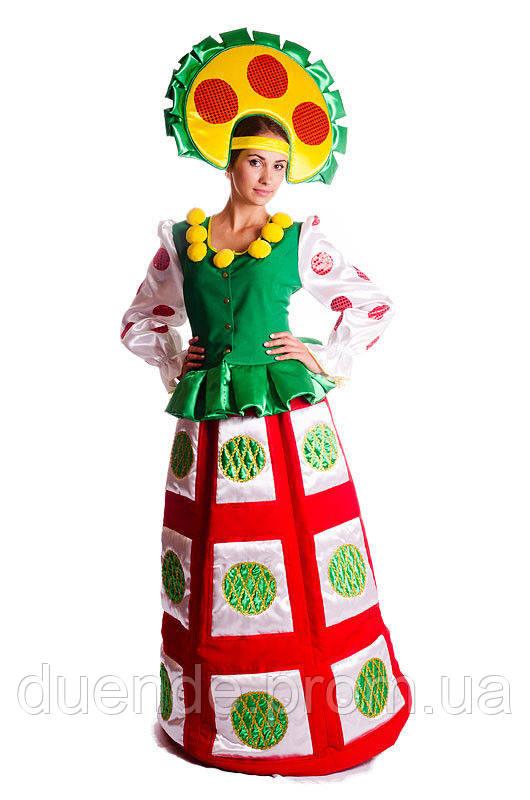 Дымковская Игрушка карнавальный женский  костюм / BL - ВЖ228