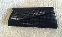 Женский клатч черный стильный, каркасный (Турция)