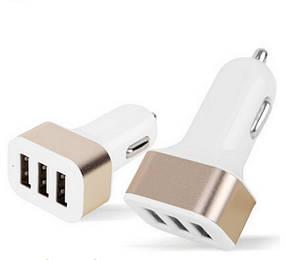 Универсальная зарядка для авто NOKOKO 12V-24V 3 USB