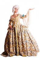 Карнавальный костюм 18 века с каркасом панье (цветочек) / BL - ВЖ224