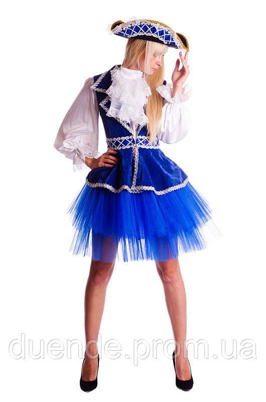 Пиратка в голубой юбке карнавальный костюм / BL - ВЖ217
