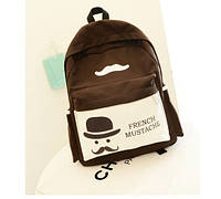 Молодежный городской стильный рюкзак ,коричневый,качество!