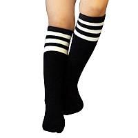 Гольфы, гетры, носки высокие, футбольные спортивные, унисекс, черные, р. 5-10 лет
