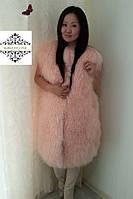 """Стильный жилет из ламы  """"Натали"""" ,длина от 90 см , фото 1"""