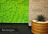 Гипсовые 3D панели Rectangles