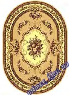 """Синтетический овальный ковер эконом-сегмента Gold Karat """"Прикосновение"""", цвет бежево-коричневый"""