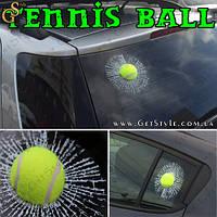 """Наклейка на скло тенісний м'яч - """"Tennis Ball"""" - Оригінал, фото 1"""