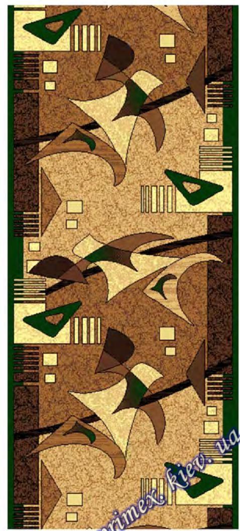 """Синтетическая дорожка эконом-сегмента Gold Karat """"Взрыв"""", цвет бежево - зеленый"""
