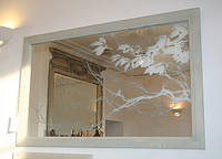 Гравировка стекла, зеркала, камня