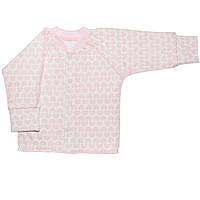 Детская кофта  (Белый с розовым, сердечки)