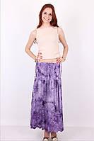 Легкая летняя женская длинная юбка фиолетового цвета