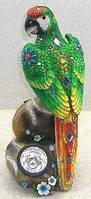 Декор статуэтка Попугай с лампой для сада