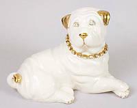 Фарфоровая статуэтка Собака