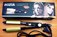 Плойка стайлер утюжок турмалиновый для выпрямления и завивки волос 2 в 1 ROZIA., фото 1