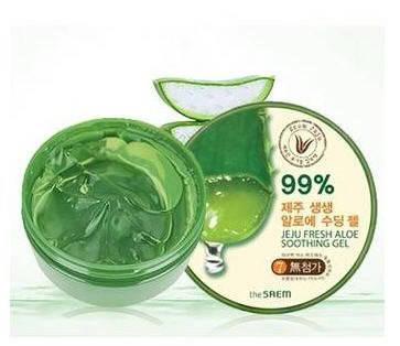 Гель с алоэ универсальный увлажняющий The Saem Jeju Fresh Aloe Soothing Gel 99%,300 мл, фото 2