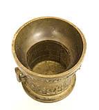 Бронзовая ступа для специй, ступка бронзовая, ступа с пестиком, бронза, Германия, фото 6