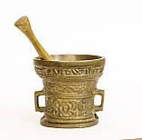 Бронзовая ступа для специй, ступка бронзовая, ступа с пестиком, бронза, Германия, фото 5