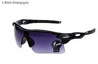 """Мужские солнцезащитные очки для спорта, бега """"Black shuang gary"""""""