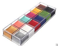 """12 цветов краска боди-арт для лица маслом макияж на хэллоуин, вечеринку """"Imagic"""" make up 70 грамм"""
