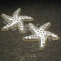 Полужемчуг акриловый фигурный морская звезда молочный