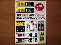 """Вело-наклейка """"ROCK SHOХ"""""""