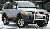 Защита переднего бампера кенгурятник высокий без защиты картера(нерж.) D70 на Mitsubishi Pagero Sport 2008+