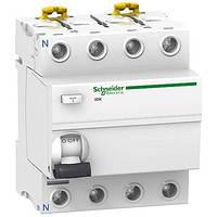 Дифференциальный выключатель (УЗО)  Schneider Electric серия Acti9 ilD K 4P, 25А, 30мА